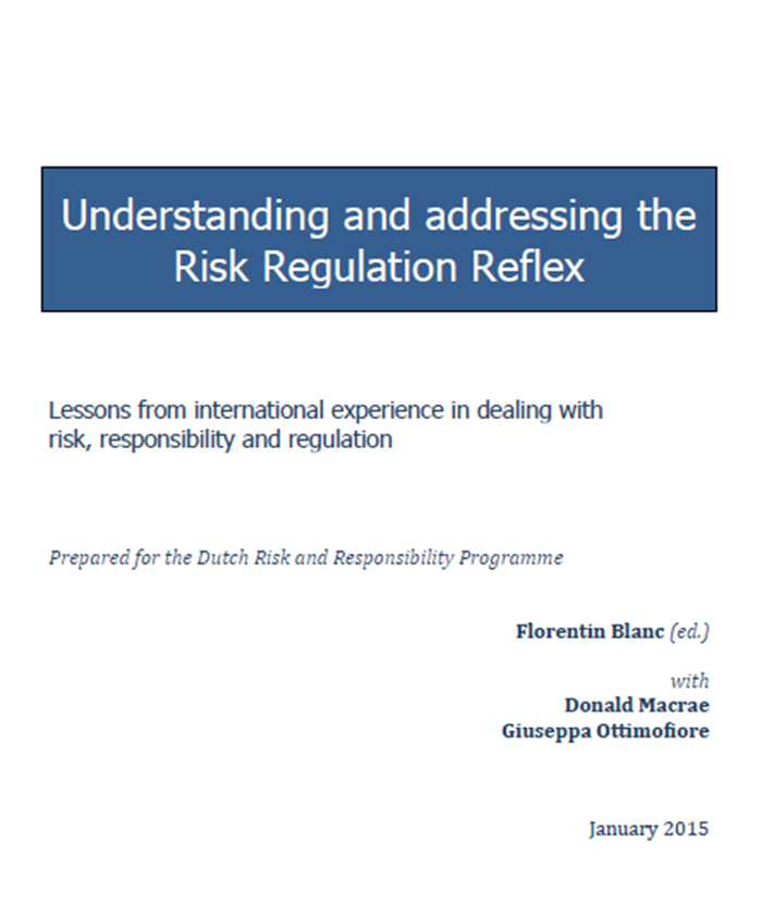 Afbeelding rapport Understanding and addressing the Risk Regulation Reflex